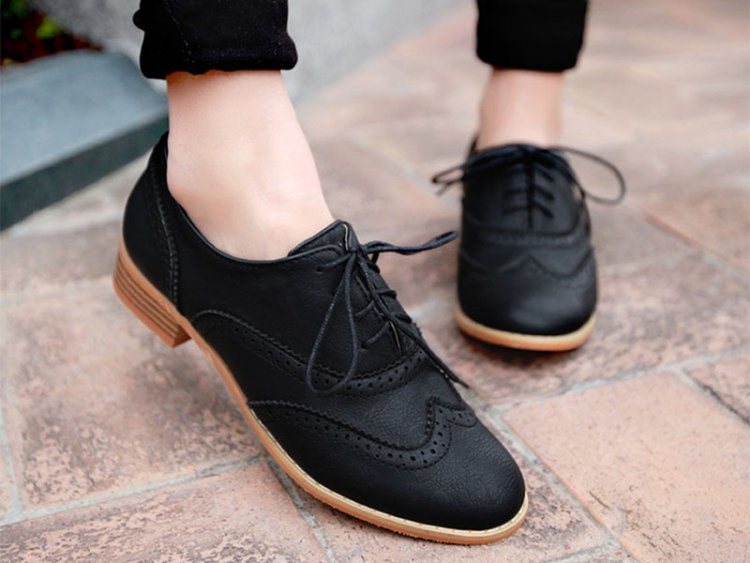 туфли оксфорды черные на шнуровке