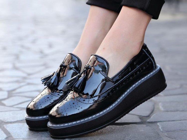 туфли оксфорды с кисточками