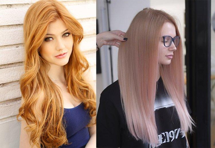 окрашивание золотистый блон-клубничный блонд