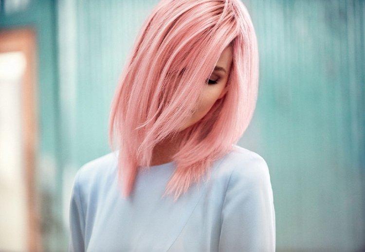 Окрашивание волос в розовый цвет