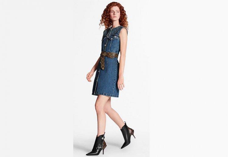 платье джинсовое луи виттон