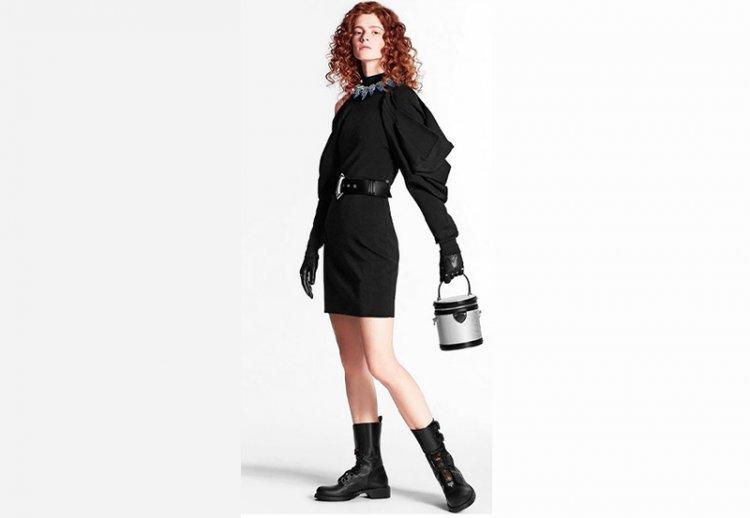 платье черное Луи Виттон