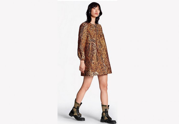 платье Луи Виттон в этническом стиле