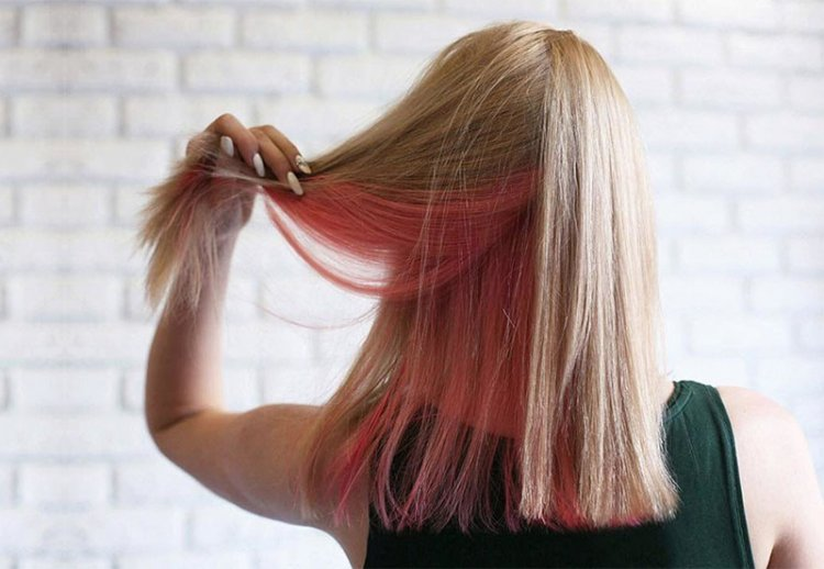 Модное скрытое окрашивание волос