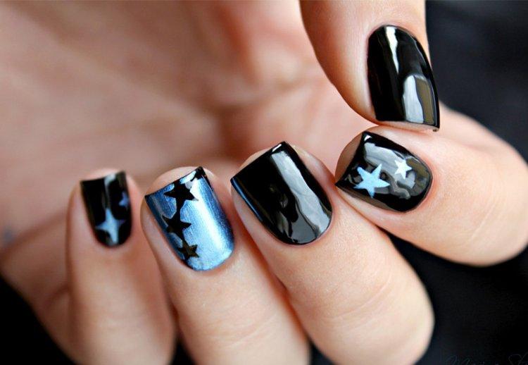 звезды на ногтях