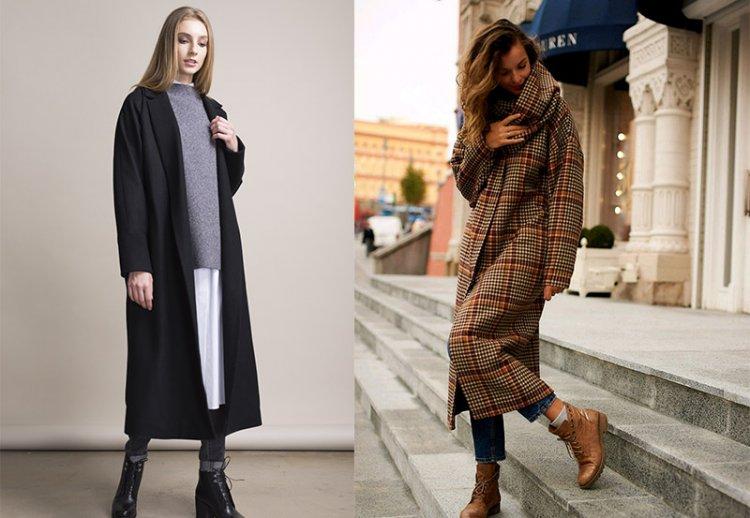 универсально базовое длинное пальто