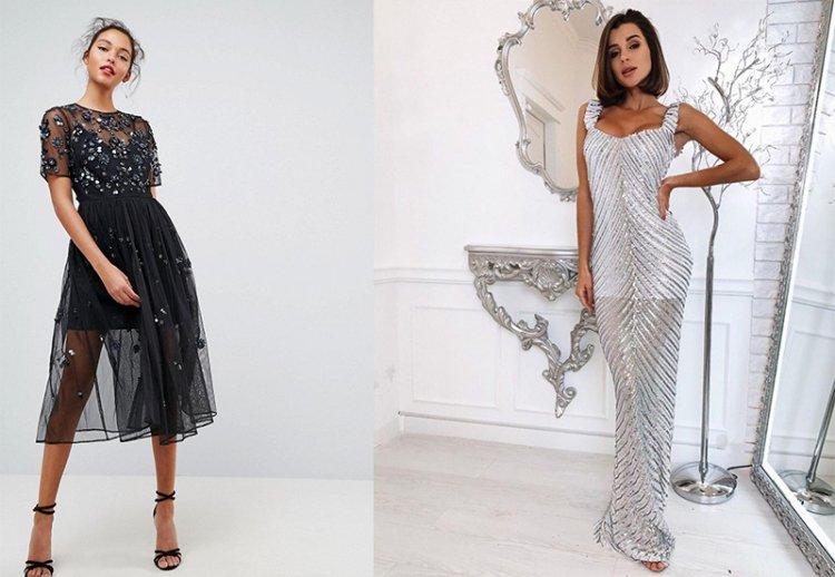 Двухслойное полупрозрачное платье