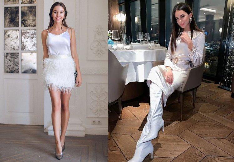 шелковое праздничное белое платье