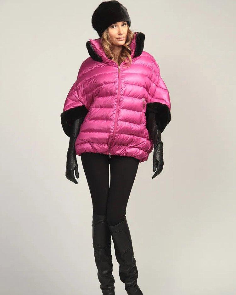 розовая куртка с укороченными  рукавами