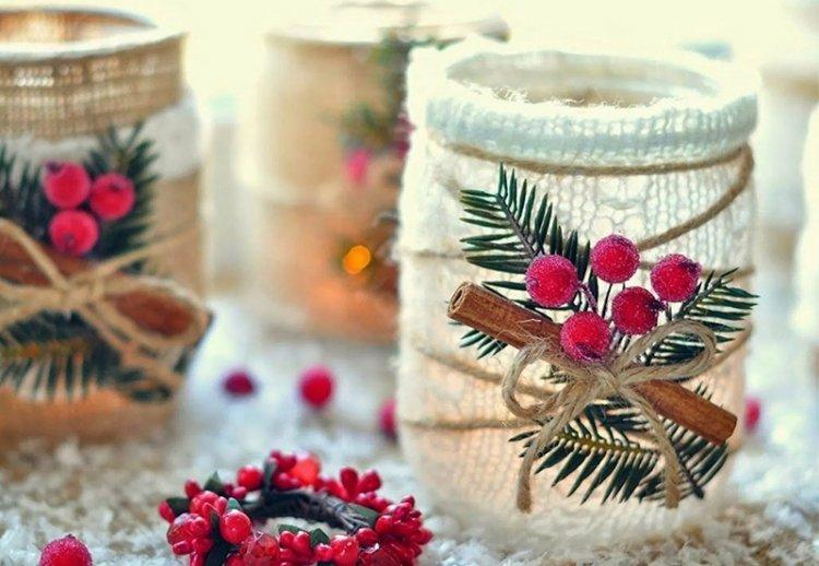 Оригинальные украшения на Новый год своими руками