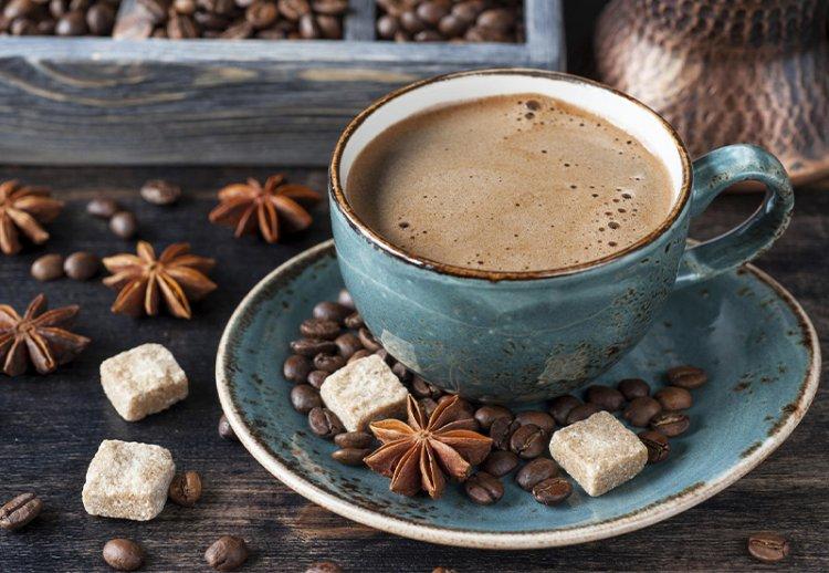 кофе в красивой чашке
