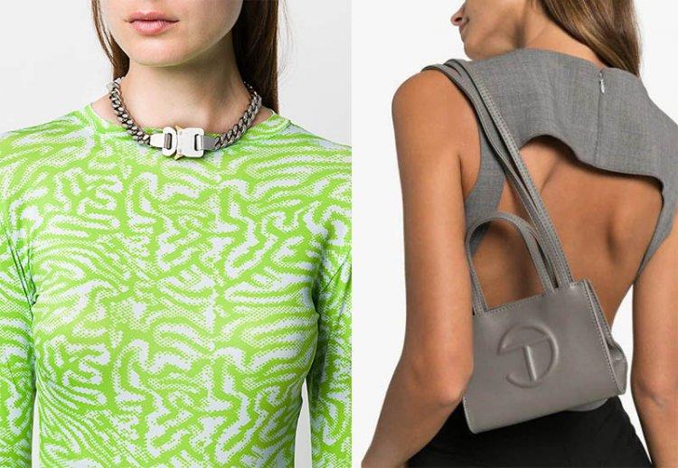 модная цепочка и сумка