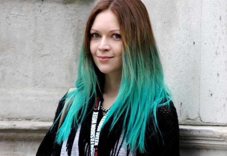 Окрашивание волос в яркие оттенки