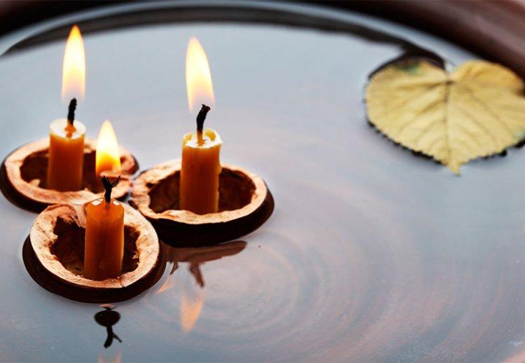 гадание по свече и скорлупе ореха