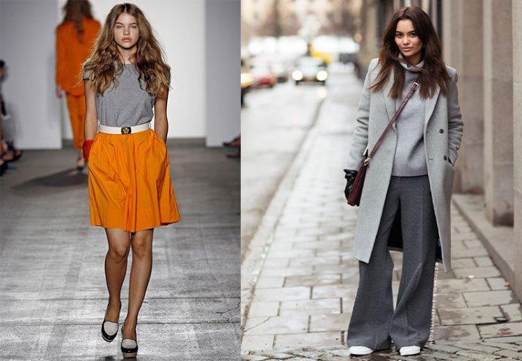 Классический серый цвет в одежде