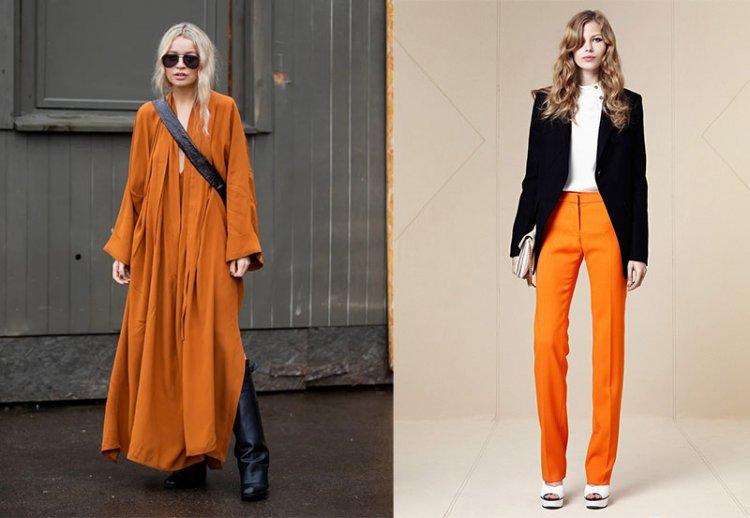оарнжево-желтый оттенок в одежеде
