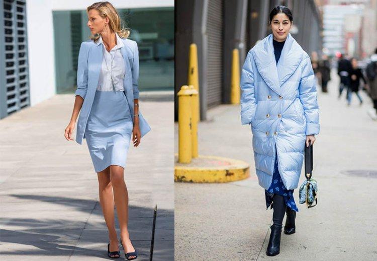Светло-голубой цвет в одежде