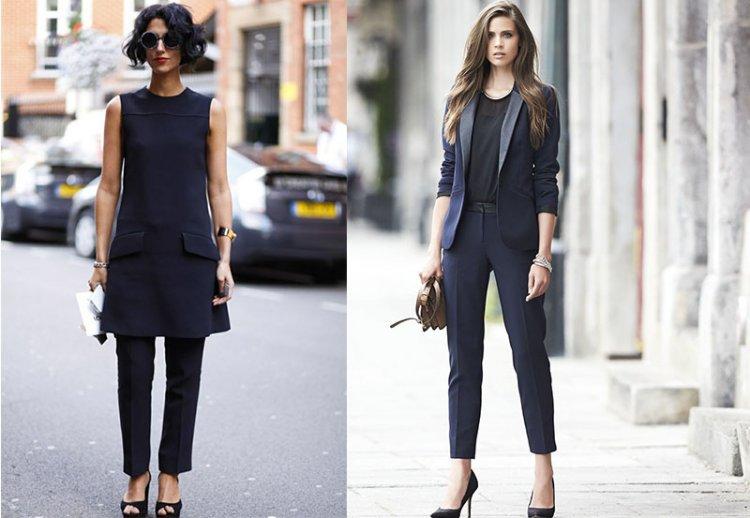 Черно-синий оттенок в одежде