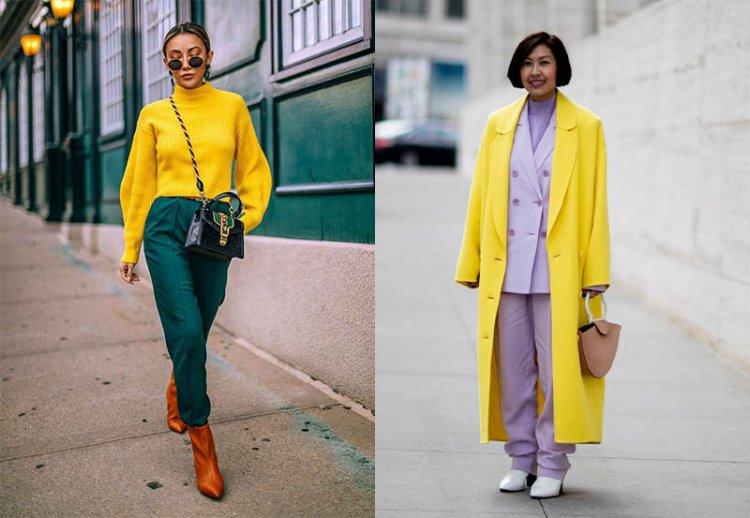 Ярко-желтый оттенок в одежде