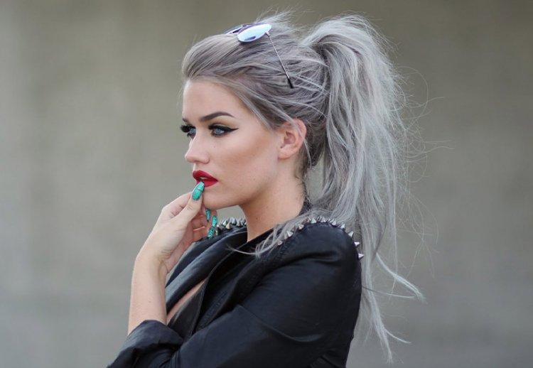 модное окрашивание в седойцвет волос