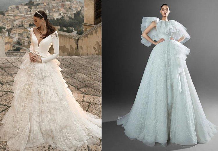 модное платье на свадьбу 2021 с пышной юбкой