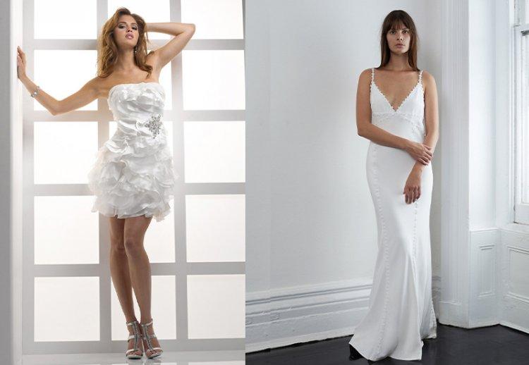 свадебные платья бельевом стиле, свадебное мини-платье