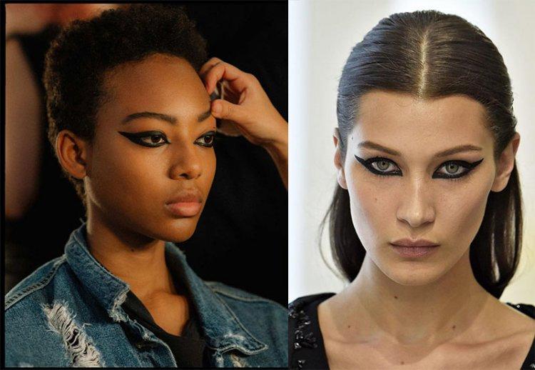 тренд 2021 макияж с черной подводкой