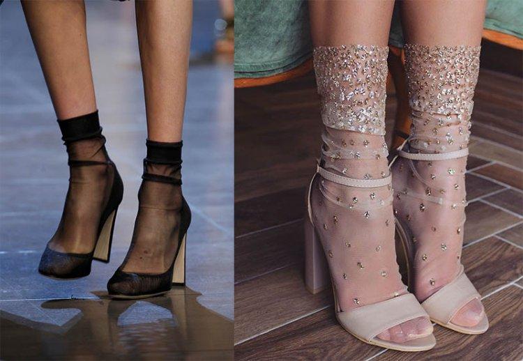 модные капроновые носки