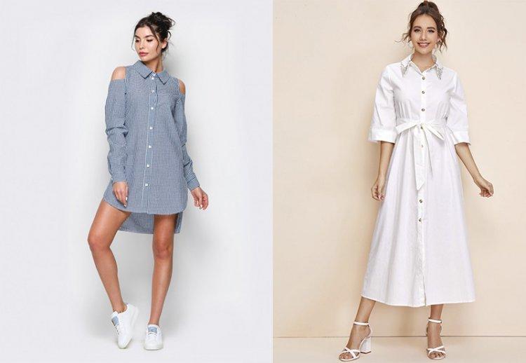 платье рубашка 2021