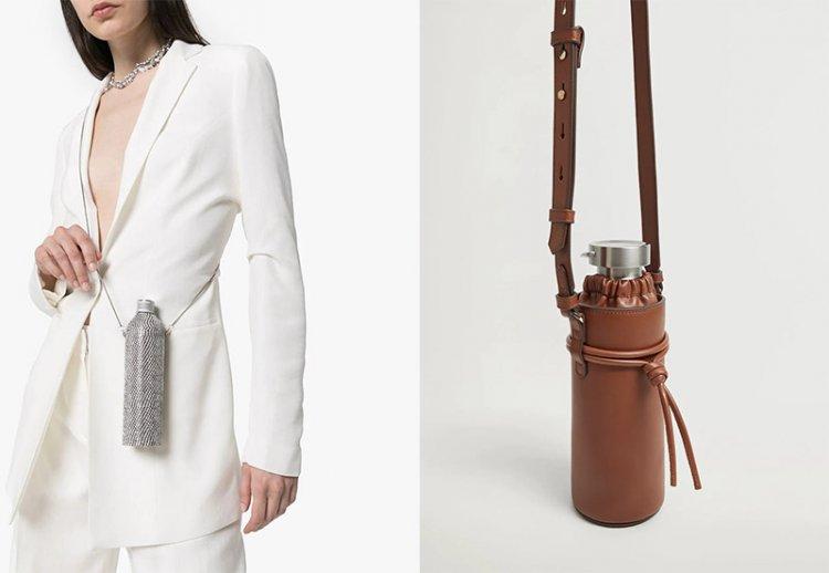 Кожаная сумка для бутылки воды