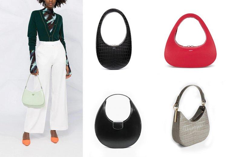 Модная твердая сумка Хобо
