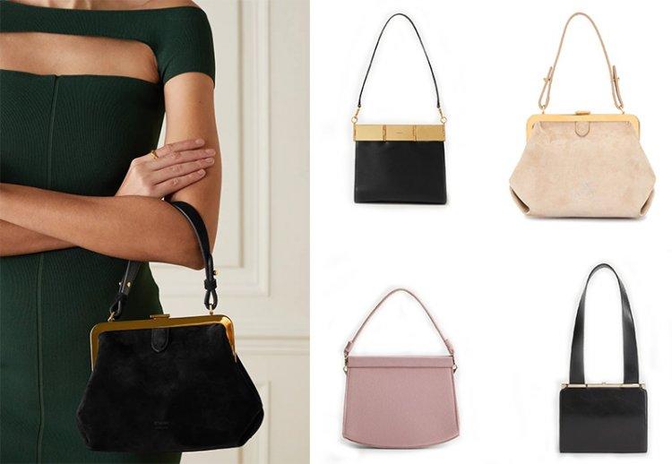 сумки в ретро стиле с застежкой