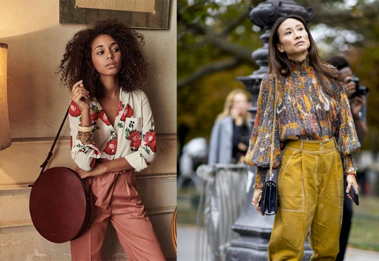 модные цветные руашки 2021