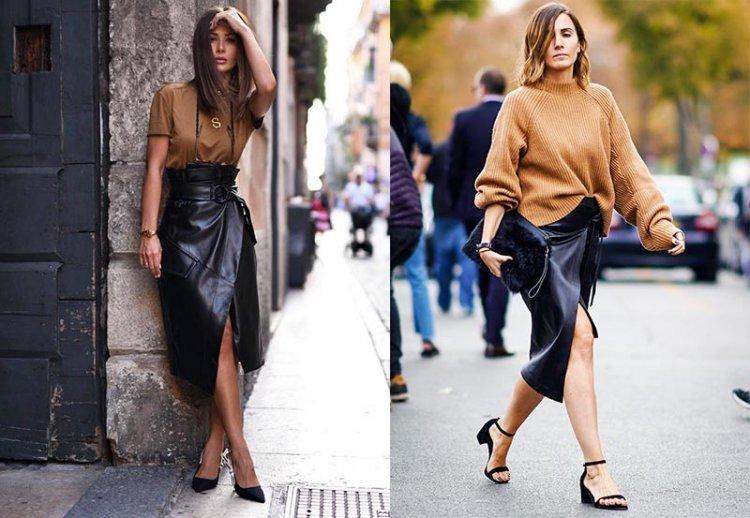 как носить юбку на запах