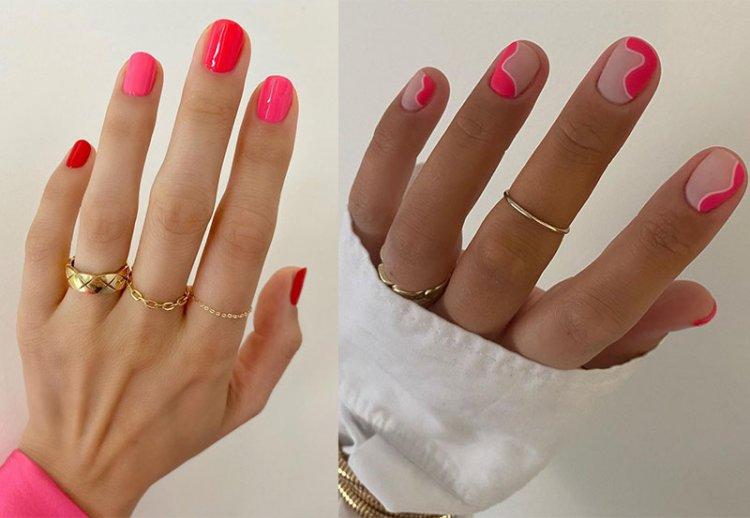 трендовые розовые ногти