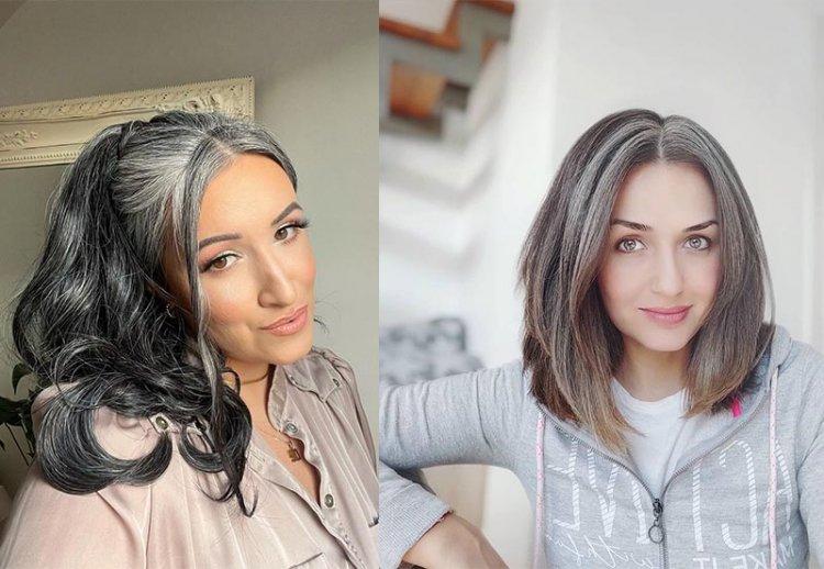Тренд на седые волосы