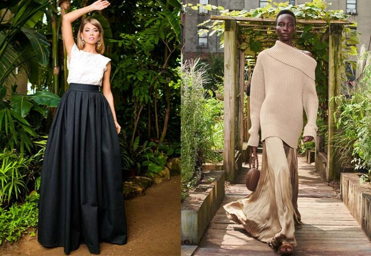 модные длинные юбки в пол