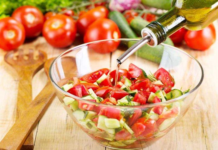 сочетание масла и овощей