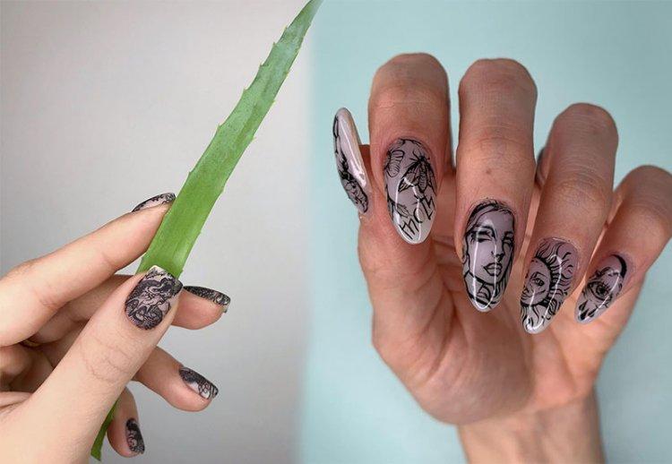 дизайн тату на ногтях