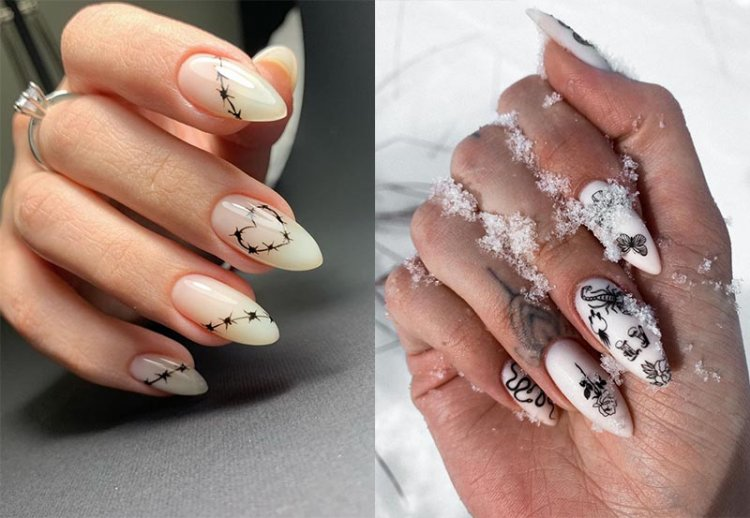 татуировки на ногтях
