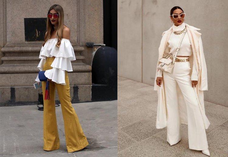 Модные брюки клеш 2021