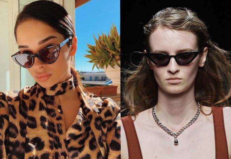 модные кошачьи очки солнечные