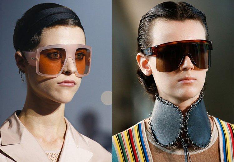 модные очки маски
