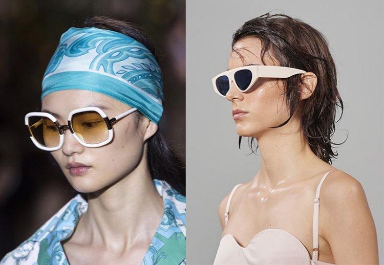 ретро очки с белой оправой