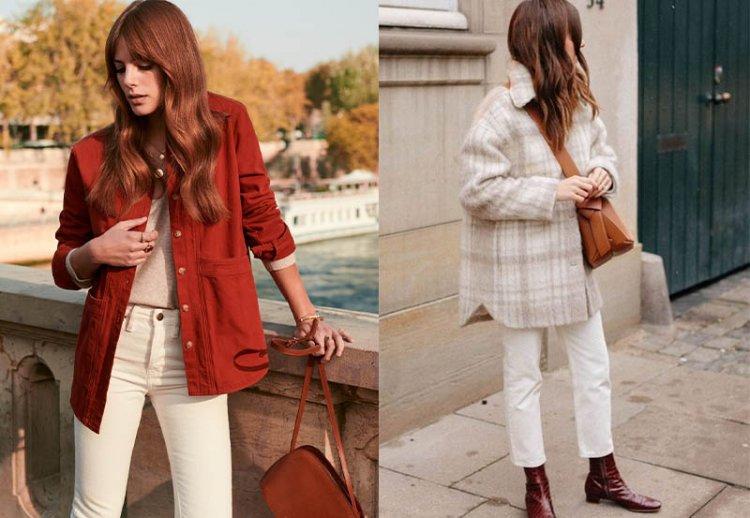 белые джинсы с курткой рубашкой