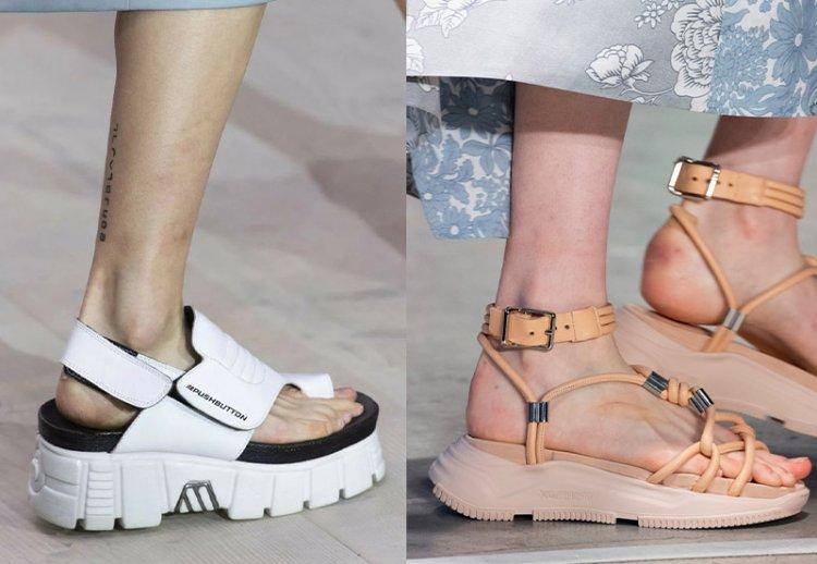 модные спортивные сандалии на лето
