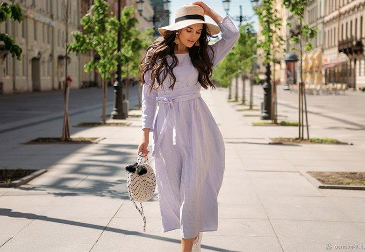 Модные платья из льна: последние тренды 2021