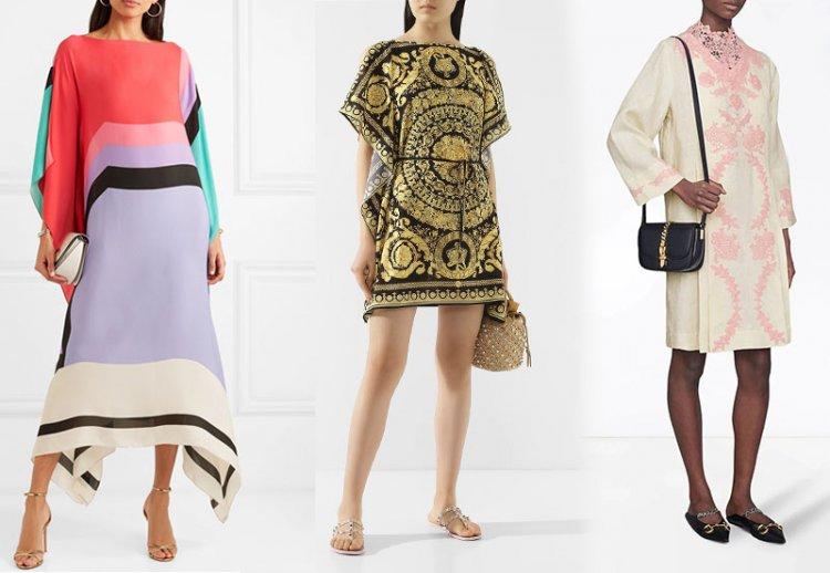 модное платье-кафтан