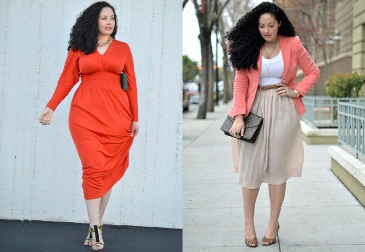 юбки и платья для девушек с широкими бедрами
