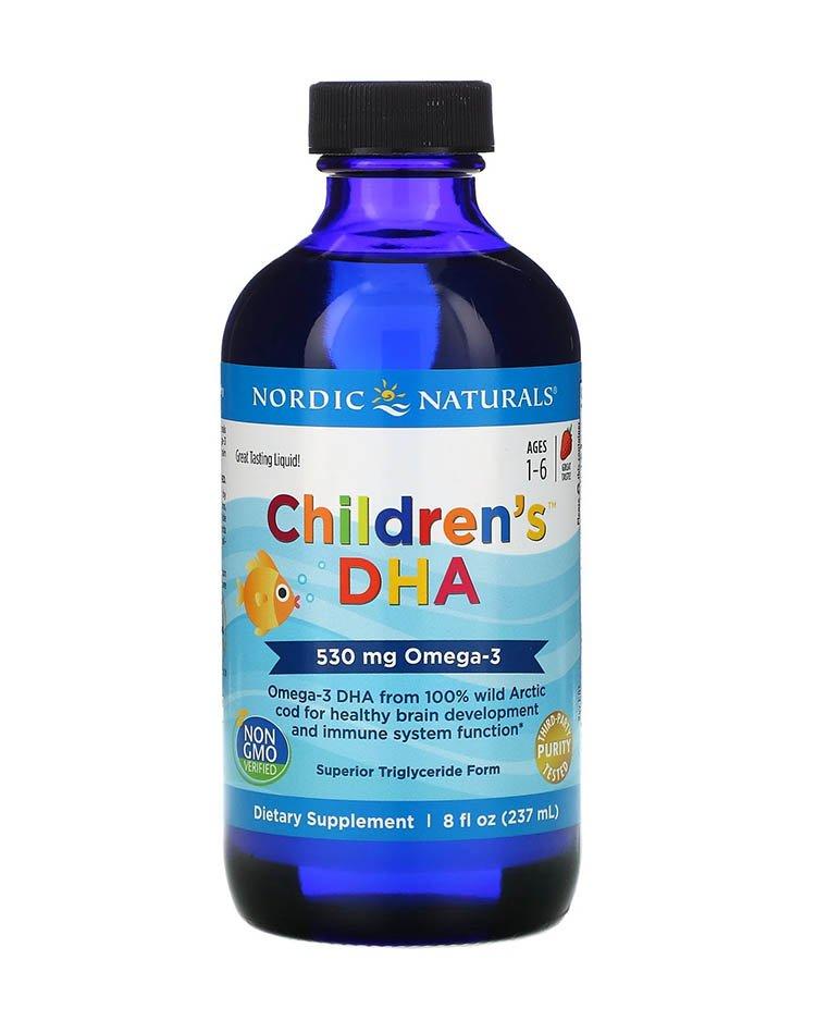Nordic Naturals, ДГК для детей от 1 до 6 лет, со вкусом клубники, 530 мг, 237 мл
